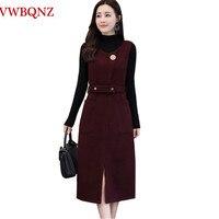 572d38c20f Fashion 2018 Autumn Winter Sleeveless Wool Dress Women Clothing High  Quality Elegant Temperament Slim Ladies Vest
