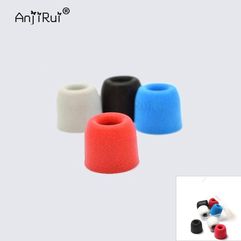 2 pcs/1pair.ANJIRUI T500 S 11mm 4.9mm ear hats insulation foam tips for in-ear earphone headset earphones enhanced bass Ear Pads