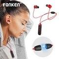 FONKEN Bluetooth наушники-вкладыши Беспроводные наушники с микрофоном спортивные басы магнитное ожерелье наушник наушники для мобильного телефон...