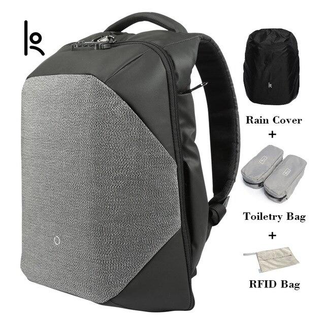 Kingsons Марка унисекс анти вор твердые Рюкзаки научных хранения Системы сумки внешний зарядка через usb ноутбук рюкзак KS3148W