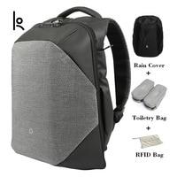 Kingsons Brand Unisex Anti thief Solid Backpacks Scientific Storage System Bags External USB Charging Laptop Backpack KS3148W