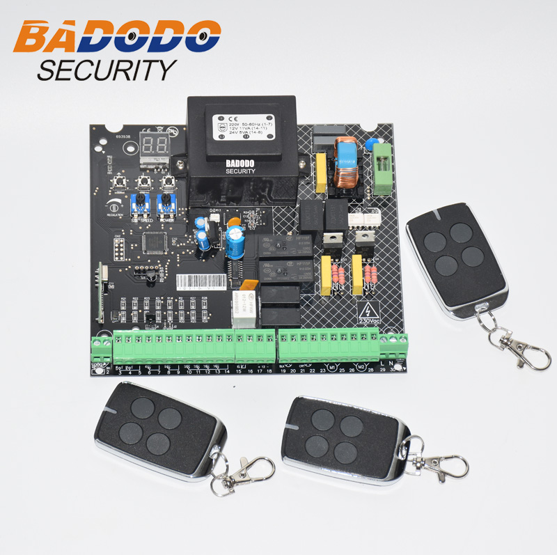 Image 3 - Universal 230VAC Power input Swing Gate opener board card chip circuit board controller Control Panel remote control optional-in Control Card Readers from Security & Protection