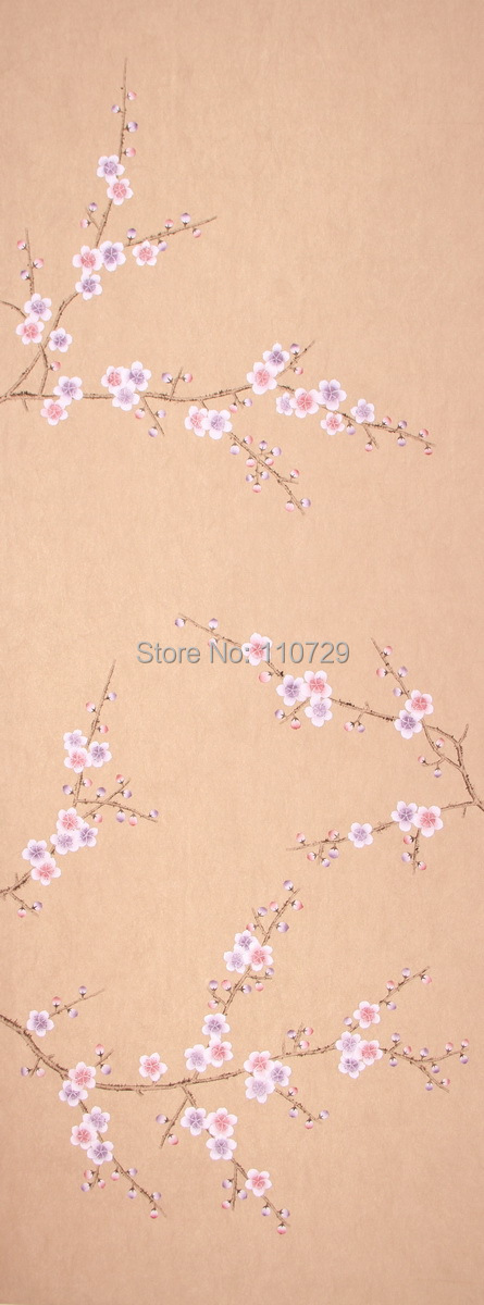 Europe style Hand painted Non woven wallpaper painting plum blossom flower wallcover sticker many pictures optional