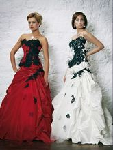 free shipping luxury dress 2013 new design hot sale Red or Black Applique Line Ball Gown Formal Party Pageant Quinceanera Dress