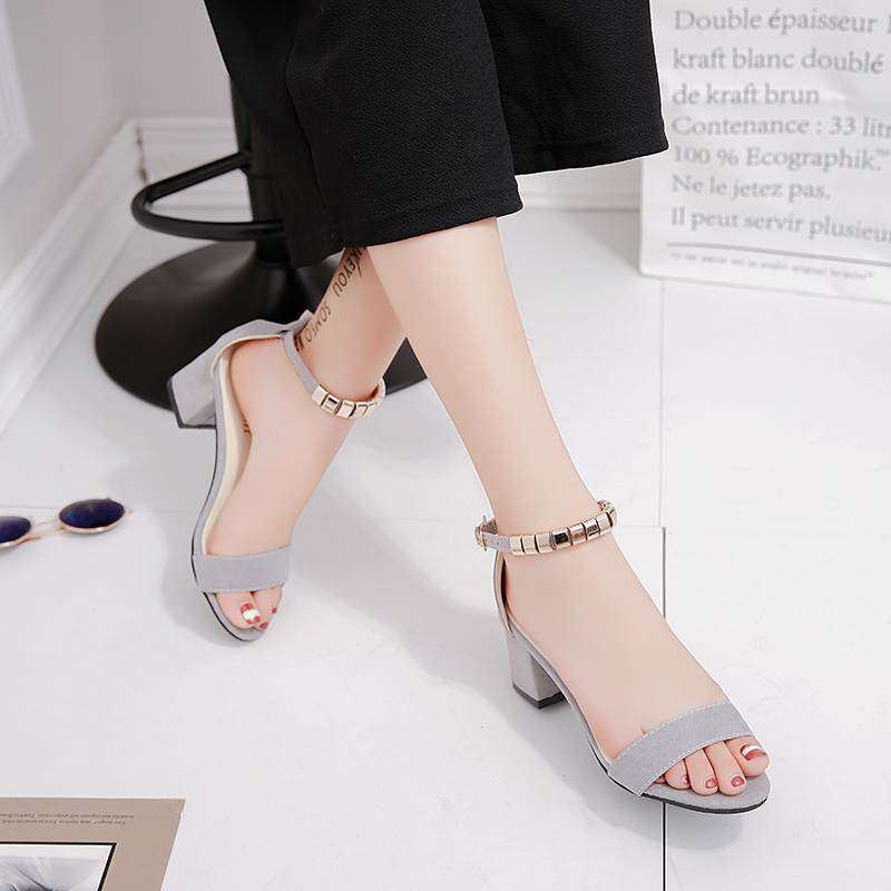 metal String Bead Summer Women Sandals Open Toe shoes Women s Sandles Square heel Women Shoes metal String Bead Summer Women Sandals Open Toe shoes Women's Sandles Square heel Women Shoes Korean Style Gladiator Shoes m668