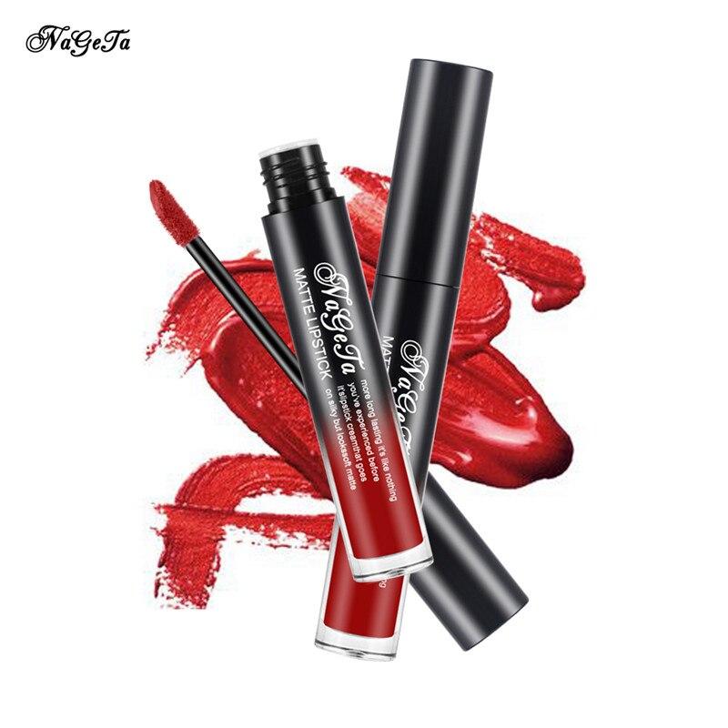 Professional Korean Cosmetics Matte Lip Gloss Liquid Lipstick Waterproof Batom Makeup Lipgloss Lip Tint Stain Red Lip Stick 2
