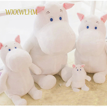60cm cute children plush toy biggest hippo plush doll baby soft holding pillow toy white hippo