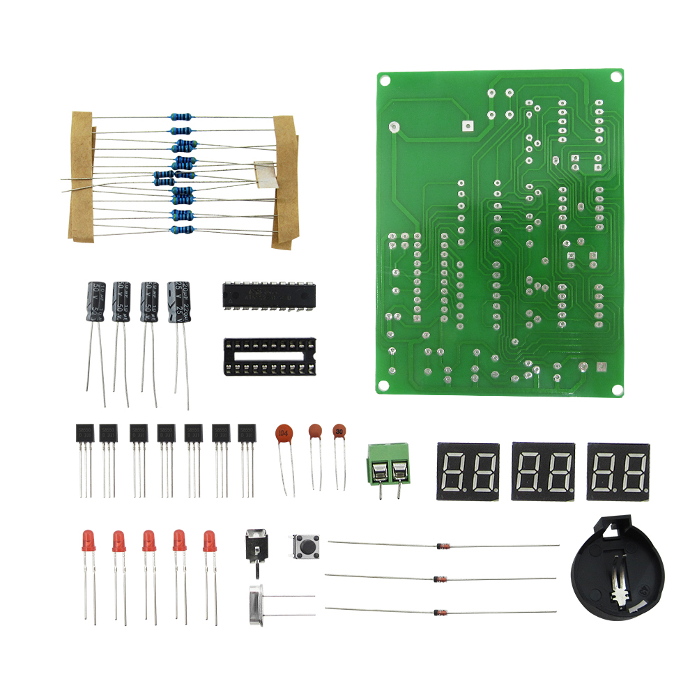 DIY Kits AT89C2051 Electronic Clock Digital Tube LED Display Suite Electronic Module Parts and Components DC 9V - 12V dc 12v led display digital delay timer control switch module plc automation new