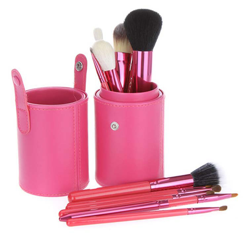 Hot Selling Cosmetic 12Pcs Makeup Brush Kit Make up Tools Set Professional barrel bag Makeup Brushes for woman foundation makeup