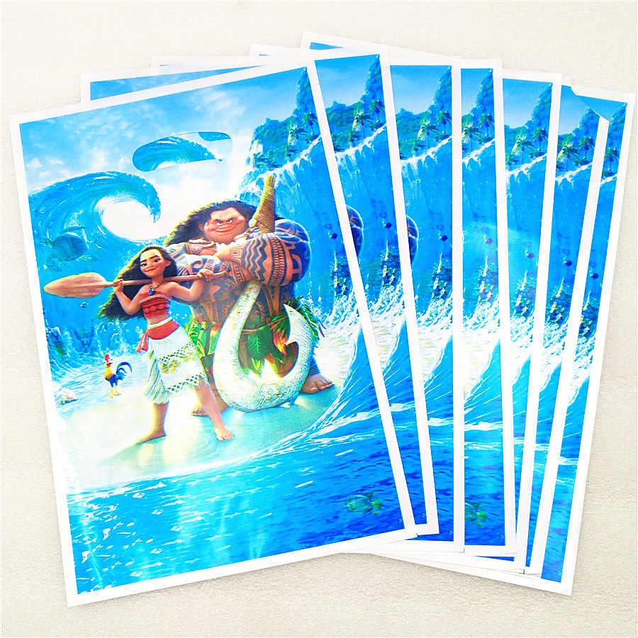 10 Uds. Moana bolsa de regalo de plástico Tema de dibujos animados chico Baby Shower Moana cumpleaños suministros decoración favores Canday Loot Bag
