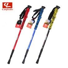 Aluminum Multi-color EVA Handle Walking Sticks Quick Lock Trekking Hiking Poles Nordic Walking Sticks Unisex CL114