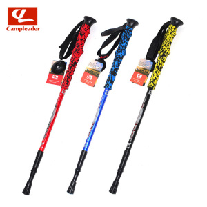 Aluminum Multi-color EVA Handle Walking Sticks Quick Lock Trekking Hiking Poles Nordic Walking Sticks Unisex CL114