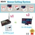 O chamada Pager sistema de chamada de CE aprovado para o serviço de restaurante 2 receptor e 1 pcs K-999 teclado