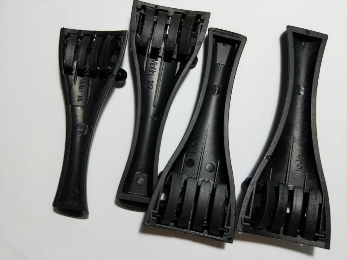 40 PCs Quality Carbon Fiber Violin Tail Piece with String Adjusters  Fiddle Parts 10pcs Each Size From 1/4 1/2 3/4 To 4/4 4 4 5 string new violin neck man head hand carve high quality 1 2