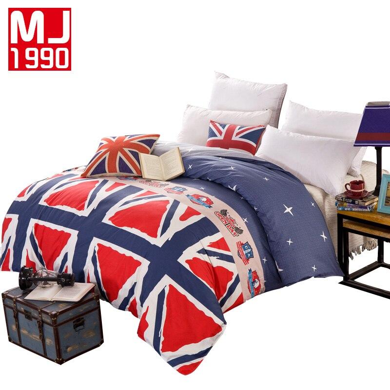 2018 New 100% Cotton Duvet Cover Flag Flowers Striped Lattice Printing Bedding Quilt Healthy Soft Good Sleep Custom Made 1Pcs