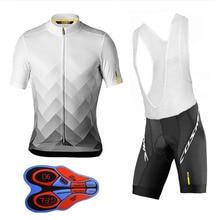 2019 команда для велоспорта Mavic майки велокостюм из флиса Быстросохнущий нагрудник гель наборы одежды Ropa Ciclismo uniformes Maillot спортивная одежда #85