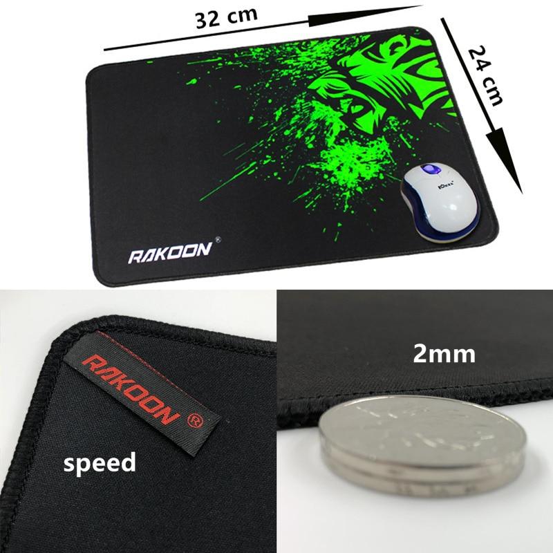 Большой игровой коврик для мыши с зеленым принтом, Противоскользящий коврик для мыши из натурального каучука, коврик для клавиатуры, Настольный коврик для ноутбука, компьютера, геймера, коврик для мыши - Цвет: speed24x32cm