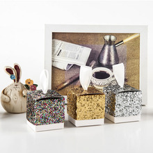 Luxury Glitter Paper Dragee Box Wedding Party Favors Candy Gift Boxes Cake Wrapping Supplies 20pcs/lot
