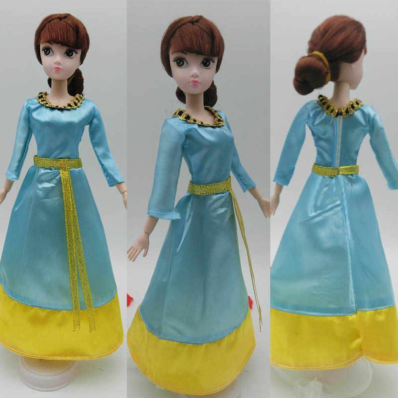 Аксессуары для кукол модные платья для кукол Барби дом Косплей старинный китайский костюм герой Хуа мулань Одежда для кукол Барби