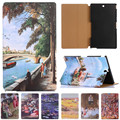 For sony z3 case Fashion Starry Sky Oil Painting For Sony Xperia Z3 Compact Tablet Cover Vintage Art Painted Pattern Tablet Case