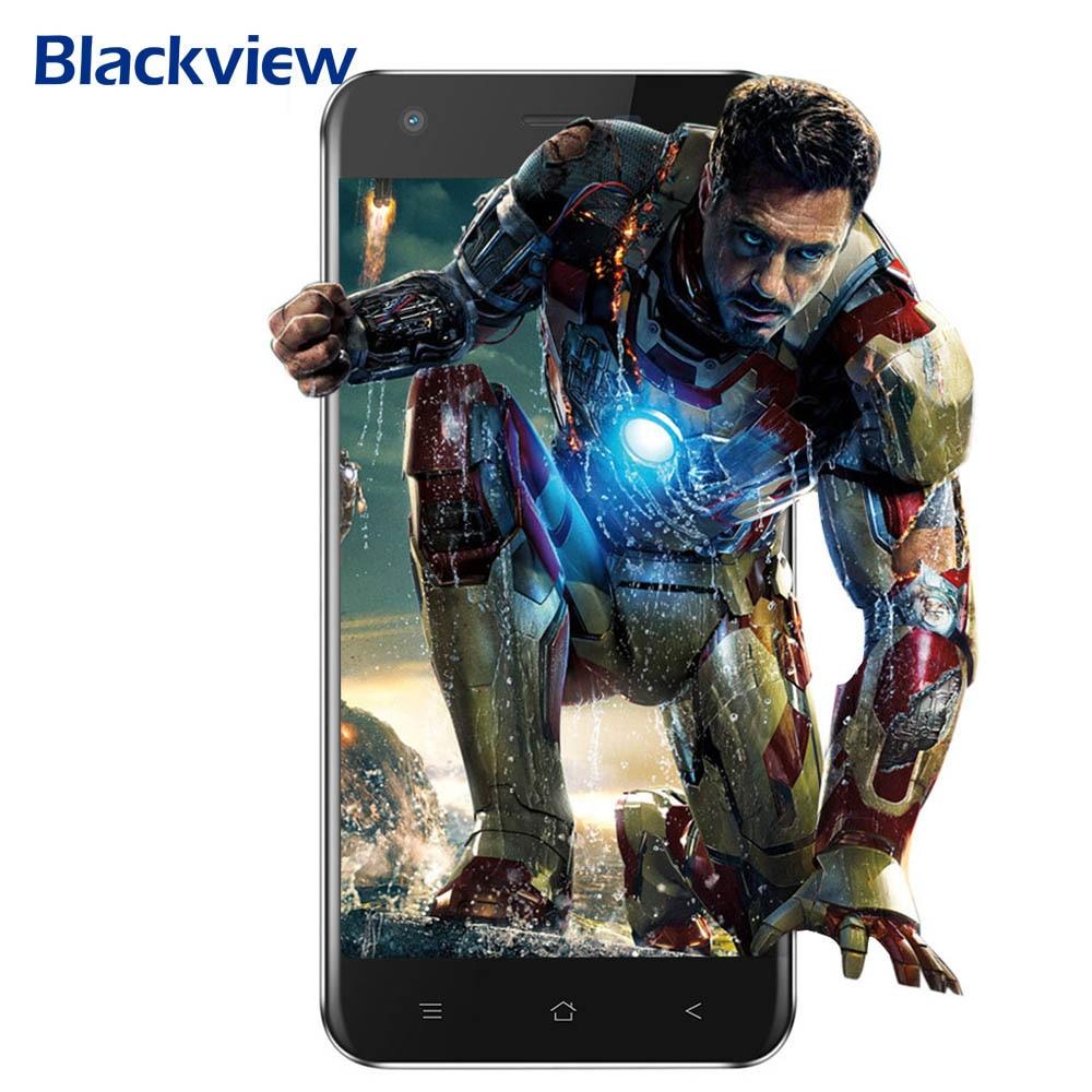 Blackview A7 Android 7,0 MTK6580A 4 ядра 5,0 HD 16:9 ips Экран 1 ГБ + 8 ГБ 0.3MP + 5MP двойной сзади камеры Bluetooth 4,1 3g смартфон