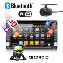 Quad Core radio del coche 2 din android 6.0 del coche dvd gps de navegación car stereo radio Reproductor de coche gps 3G Wifi Bluetooth 2 din Universal