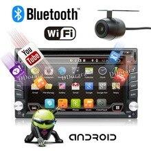 4 ядра автомобиль радио 2 DIN Android 6.0 dvd-gps-навигация автомобилей стерео радио автомобильный gps 3 г Wi-Fi Bluetooth 2 din универсальный плеер