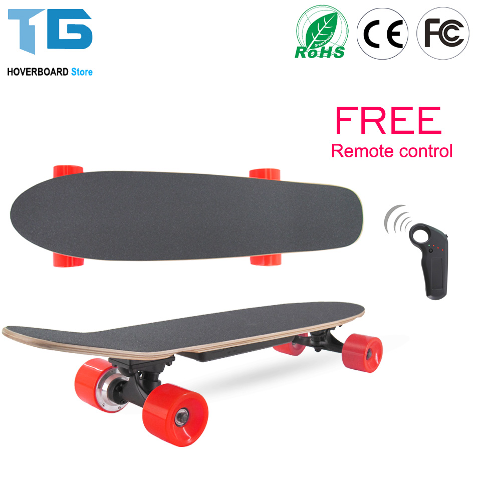 2017 Newest Fishboard Electric 4 Wheel Scooter Electrico Single Hub Motor Patinete Electric Skateboard for Adults Free Shipping portable folding carbon fiber electric scooter vehicles 2 wheel electric skateboard for adults and children black red color hot