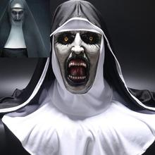 The Nun Horror Mask Cosplay Valak Scary Latex Masks with Hea