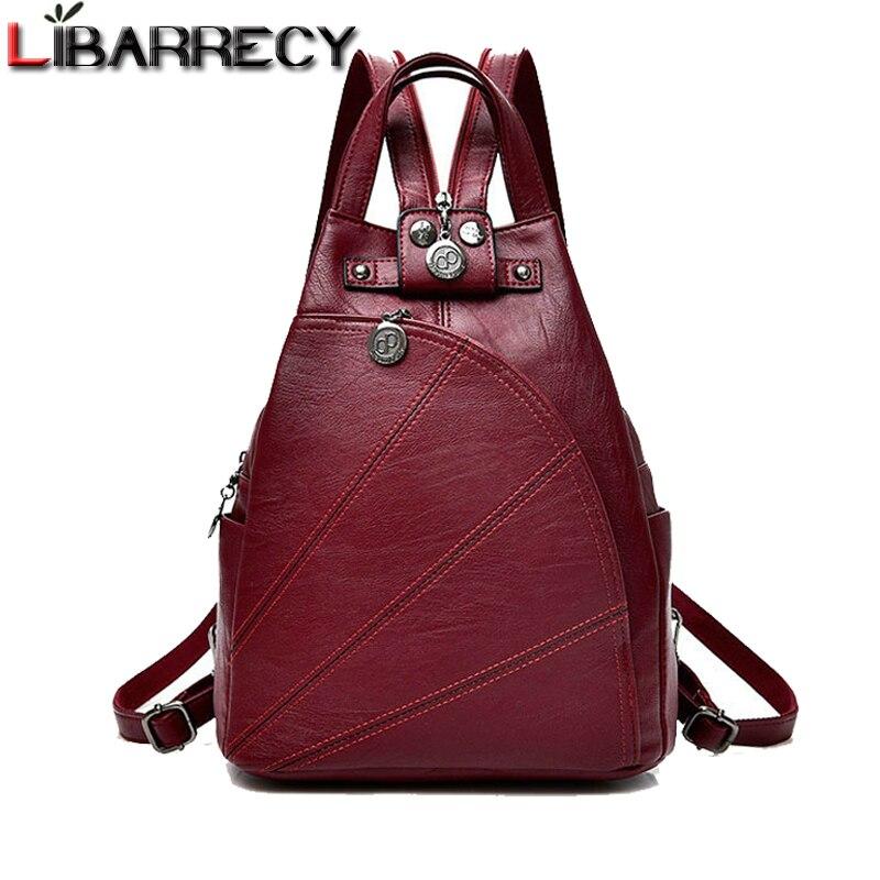 Fashion Backpack Female Brand Leather Women's Backpack Large Capacity School Bag For Teenage Girls Leisure Travel Bag Mochilas