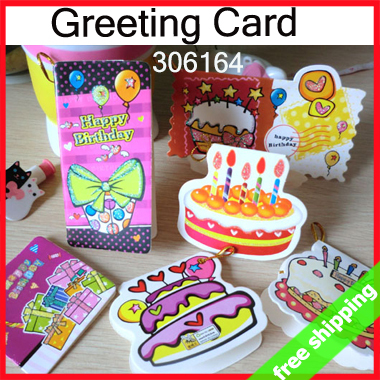 Business Cards 248pcs Hy Birthday Greeting Card Rope String Cake Hang Tag Decoration Promotion Gift