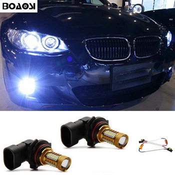 BOAOSI 2x H8 H11 Samsung 4014 LED DRL Fog Light Lamp Bulb + Canbus Decoders Error Free For BMW E71 X6 M E70 X5 E83 F25 x3 image