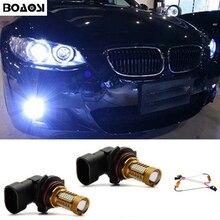 BOAOSI 2x H8 H11 samsung 4014 светодиодный DRL Туман свет лампы + Canbus декодеры ошибок для BMW E71 x6 M E70 X5 E83 F25 x3