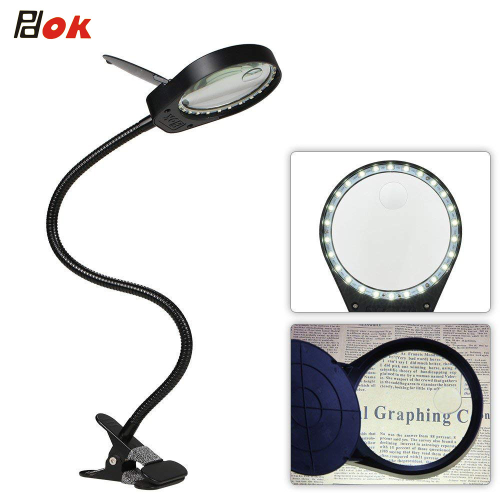 LED Magnifier Light 5W Magnifier 3X 10X Large Lens Magnifying light For Reading,Embroidering,Inspection - Clip-on Table lampLED Magnifier Light 5W Magnifier 3X 10X Large Lens Magnifying light For Reading,Embroidering,Inspection - Clip-on Table lamp