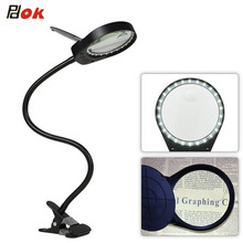 LED Magnifier Light 5W Magnifier 3X 10X Large Lens Magnifying light For Reading,Embroidering,Inspection - Clip-on Table lamp led magnifier light 5w magnifier 3x 10x large lens magnifying light for reading embroidering inspection clip on table lamp