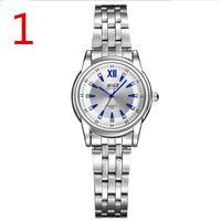 Automatic mechanical watch tungsten steel female watch waterproof luminous couple table pair double calendar