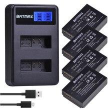 4Pcs 1800mAh LP-E12 LP E12 LPE12 Li-Ion Batterie + LCD USB Dual Ladegerät für Canon EOS M50, EOS M100,100D Kuss X7 Rebel SL1 Kamera