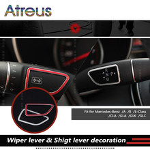 2pc Car Wiper Lever shift Frame Stickers For Mercedes Benz W212 W213 W176 W246 C117 X253 A B E GLA GLK CLA GLC Class Accessories(China)