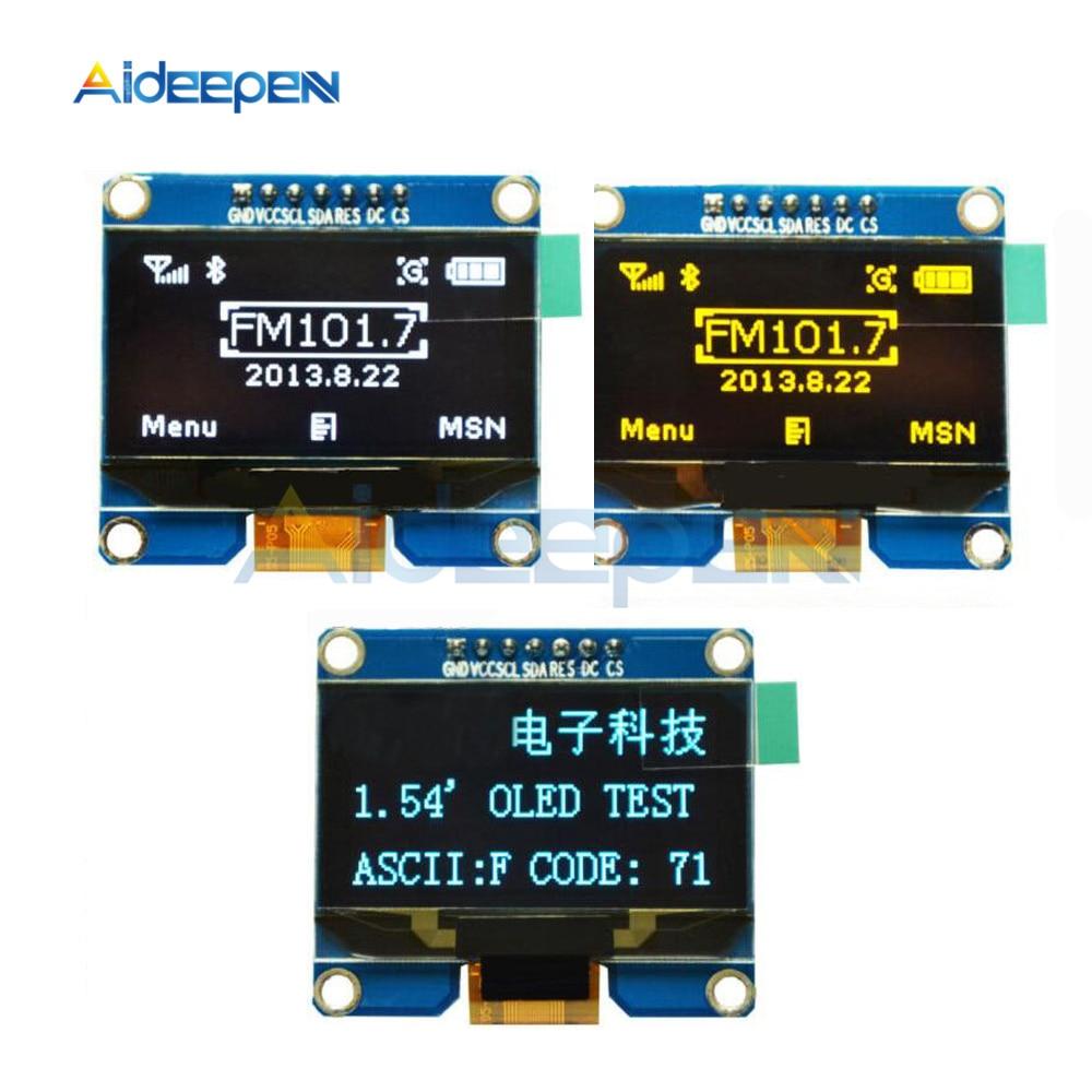 1,54 pulgadas 7PIN/Blanco/azul/amarillo Módulo de pantalla OLED 128x64 de la CII I2C interfaz SPI pantalla OLED junta SPD0301 conducir IC 3,3-5 V