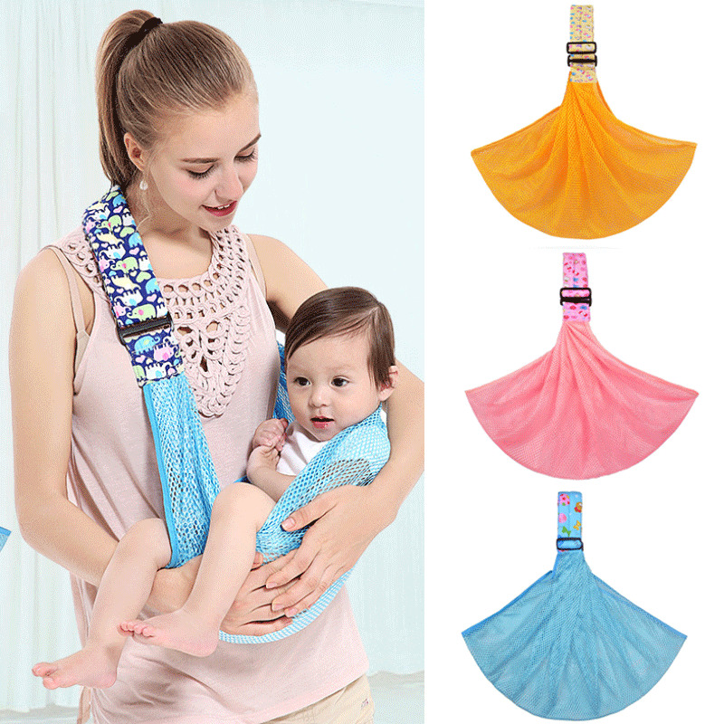 Newborn Baby Sling Carrier Ring Wrap Breathable Ergonomic Adjustable Wrap Sling Soft Nursing Pouch Front Infant