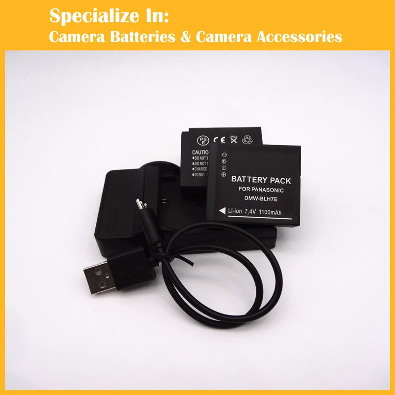 DMW-BLH7E 2xbattery+charger-1