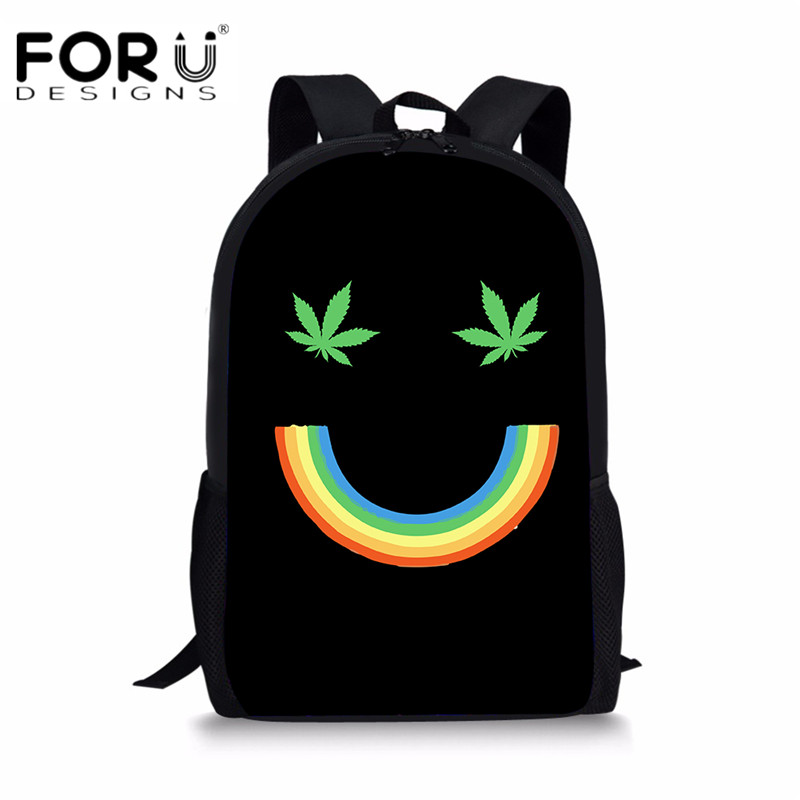 FORUDESIGNS Colorful Rainbow Printing Children Backpacks Casual Travel Daypack for Kids Girls Boys School Shouler Book Bagpack