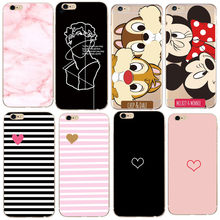 Para o iphone Caso X 5 5S 6 6 S 7 7 8 Plus X XS Folhas Minnie Para A Tampa Do iPhone SE Caso TPU Macio Para O Caso Capinha Capa iPhone 8(China)