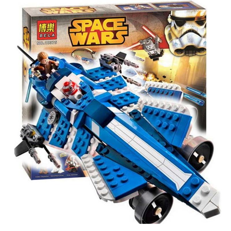 Bela Star Wars Anakins Custom Jedi Starfighter Building Block Set Asajj Ventress Minifigures Kids Toys legoe