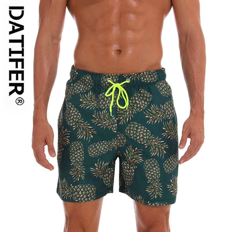 DATIFER Brand Man Swimsuits   Board     Shorts   Homme Sport Plus Size XXXL Beach Wear Briefs Swimwear Quick Dry Surf   Shorts   ES3R