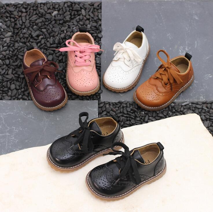 2019 Spring Autumn New Genuine Leather Childrens Sneakers Boys/Girls Baby Cowhide Single Shoes British Kids Performances Shoes2019 Spring Autumn New Genuine Leather Childrens Sneakers Boys/Girls Baby Cowhide Single Shoes British Kids Performances Shoes