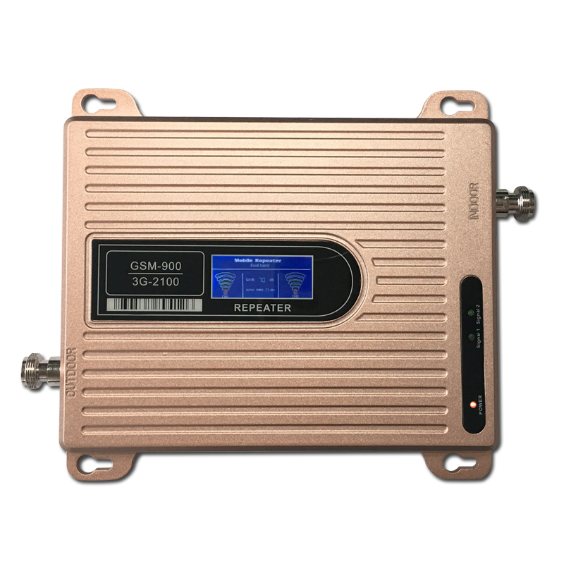 High Gain Dual Band GSM 900MHz wcdma 2100MHz Repeater GSM 3G Repetidor Mobile Phone Cellular Signal Booster Amplifier GSM Repeat