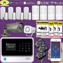 Golden Security G90B Plus WiFi 2G GSM Home Security Alarm Home Protection GPRS Alarm System APP Control with Outdoor IP Camera