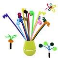 Venda quente!! 100 pçs/set diy criativo engraçado colorido tubo de torção crianças primeiros brinquedos educativos artesanato