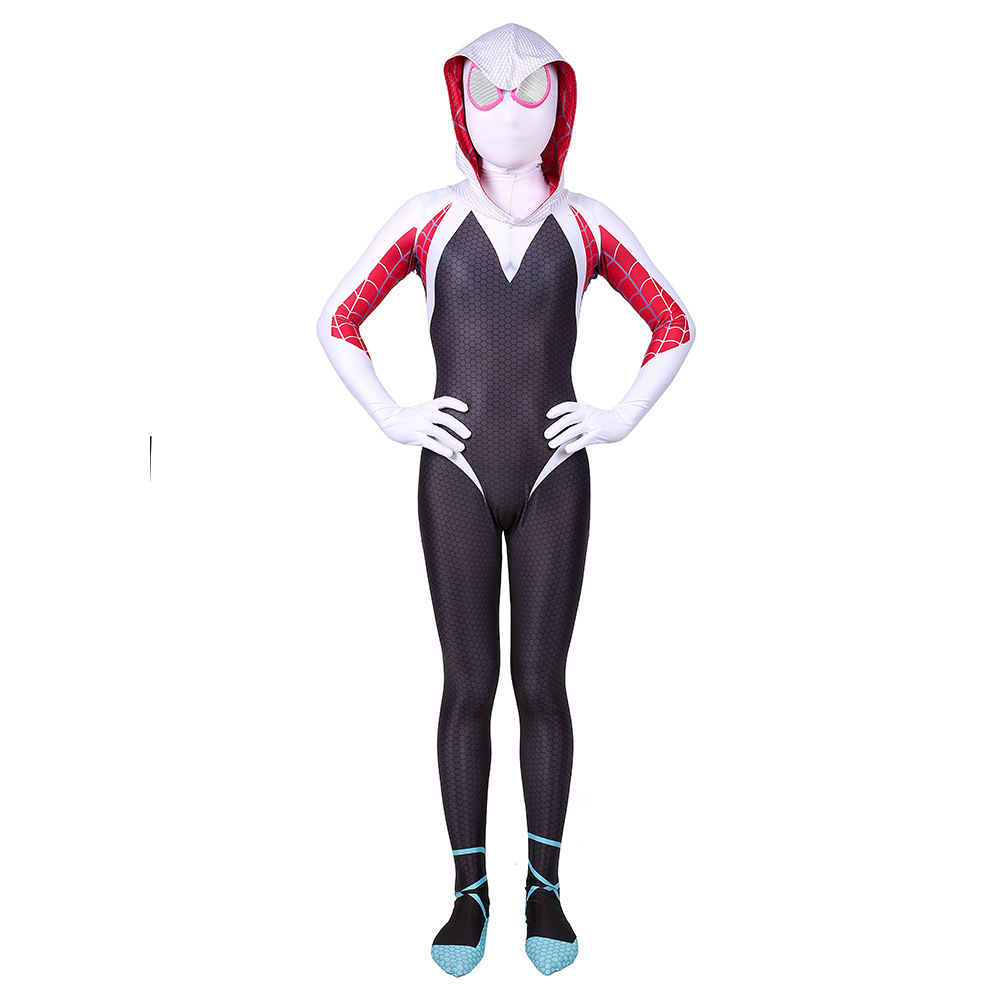 Adult Women Girl Spider-Man Gwen Costume Spiderman Jumpsuit Stacy Spandex Lycra Zentai Spiderman Costume Garment Wear Clothes